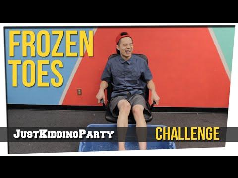Frozen Toes Challenge ft. Brandon Choi