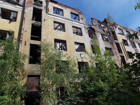 Заброшки Санкт-Петербурга. Сгоревший дом на Тихорецком пр