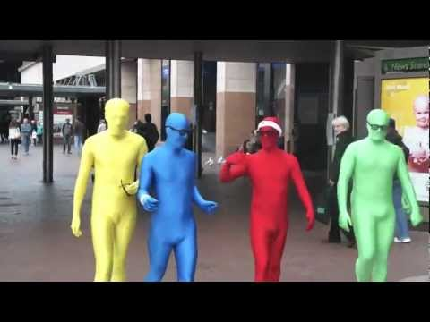 Morphsuits - Fun In Australia ( Yellow , Blue, Red & Green Morphs )