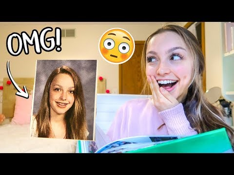 Reacting to Old Yearbook Photos!! Sydney Serena Vlogs