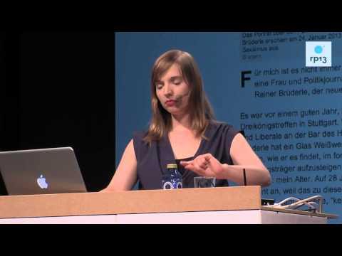 re:publica 2013 - Anne Wizorek: Ihr wollt also wissen, was #aufschrei gebracht hat? on YouTube