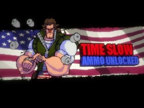 Most hilarious arcade action styled game to play with friends! Broforce!! (time slow ammo mission!) |