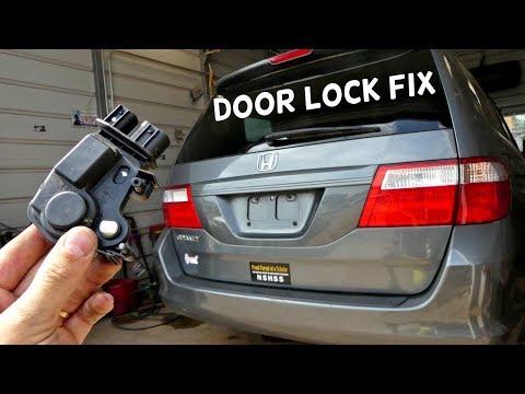 Honda Odyssey Door Lock Actuator Replacement Removal Youtube