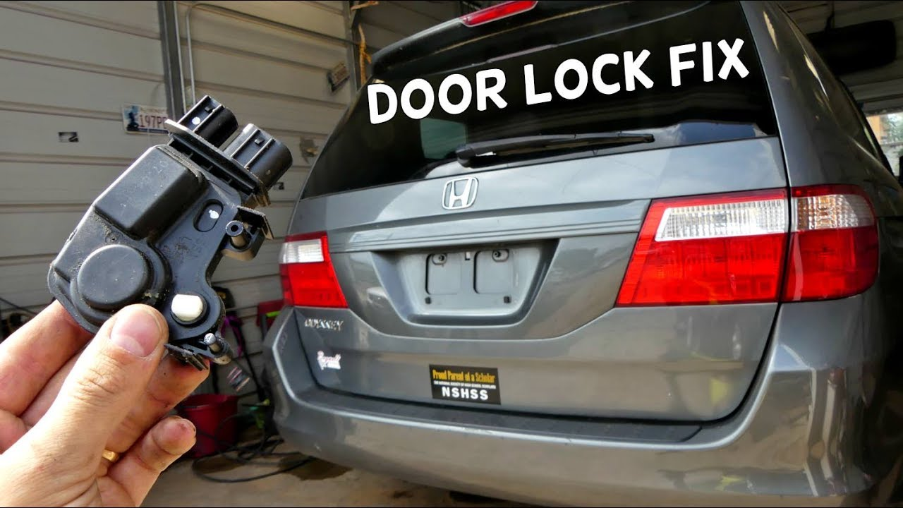 Honda Odyssey Door Lock Actuator Replacement Removal Youtube