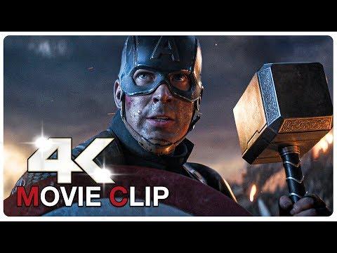 Captain America Lifts Thor's Hammer Mjolnir Scene - AVENGERS 4 ENDGAME (2019) Movie CLIP 4K