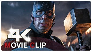 Captain America Lifts Thor's Hammer Mjolnir Scene - AVENGERS 4 ENDGAME (2019) Movie CLIP 4K
