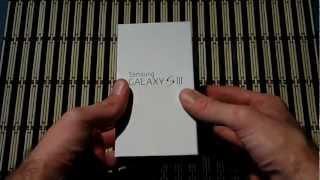 Unboxing Samsung Galaxy S III en español