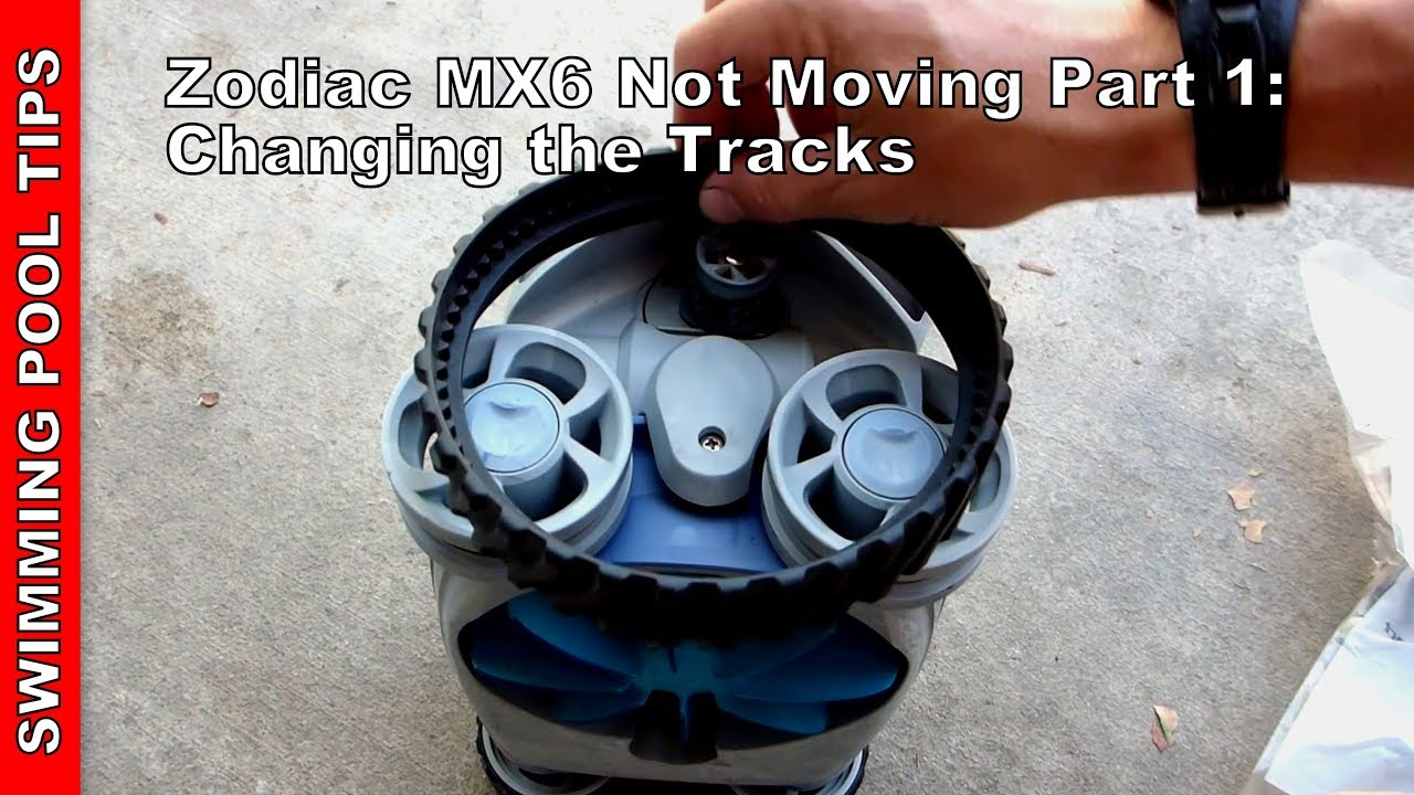 Zodiac Mx6 Not Moving Part 1 Changing The Track Tires