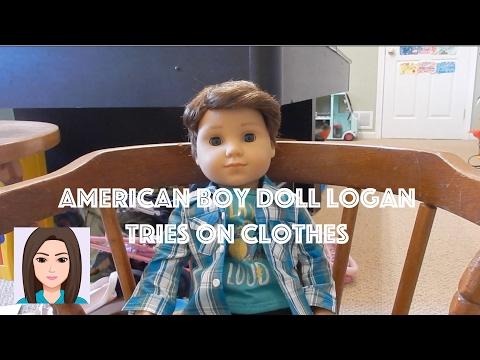 American Boy Doll Logan Tries on Clothes