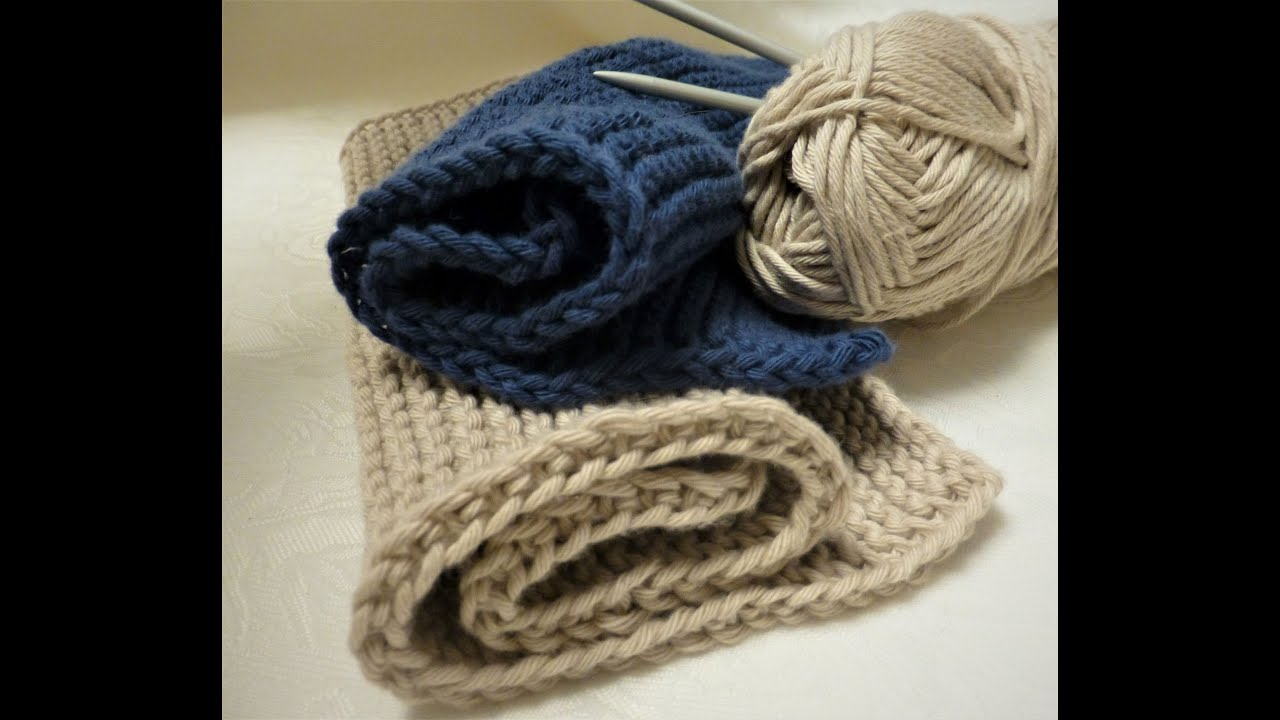How to knit a simple dishcloth. Nice beginners project ...