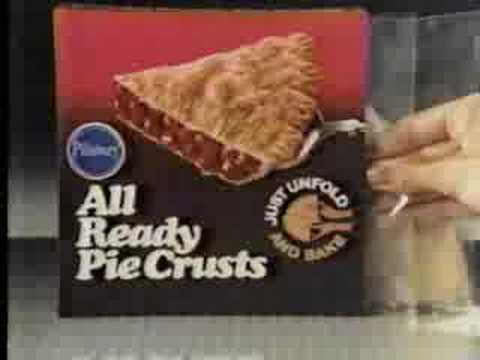 Pillsbury All ready pie crusts commercial (1986)