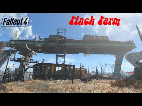 Fallout 4  - Finch farm settlement with elevator for causeway - Contraptions dlc