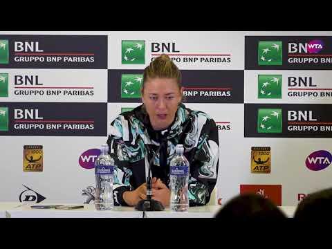 Maria Sharapova Press Conference | 2018 Internazionali BNL d'Italial Day 4
