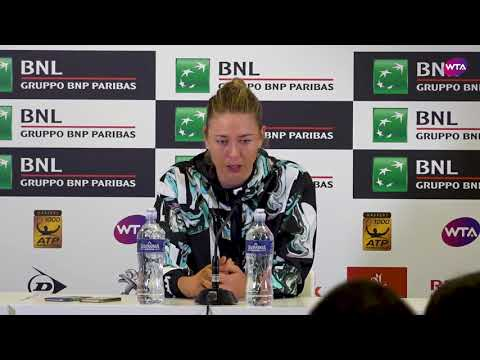 Maria Sharapova Press Conference  2018 Internazionali BNL d'Italial Day 4