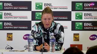 Maria Sharapova Press Conference   2018 Internazionali BNL d'Italial Day 4