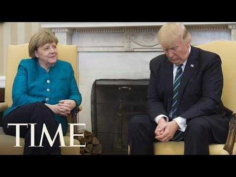 Angela Merkel Asked President Trump To Shake Hands & He Appeared To Ignore Her | TIME