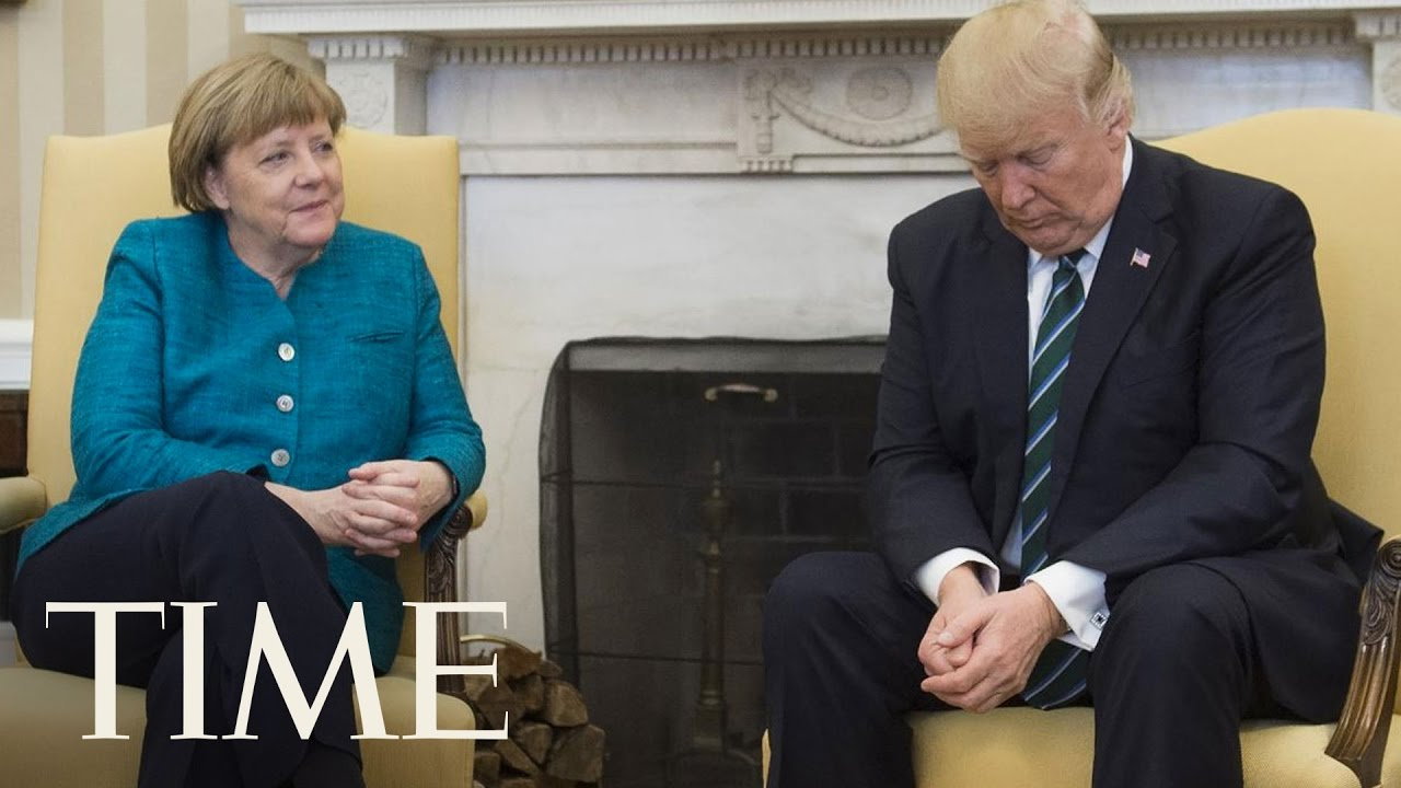 Angela Merkel Asked President Trump To Shake Hands & He Appeared To Ignore  Her