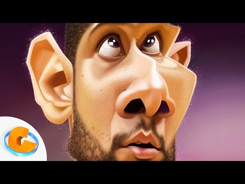 tim duncan caricature speed painting por israel oliveras horta