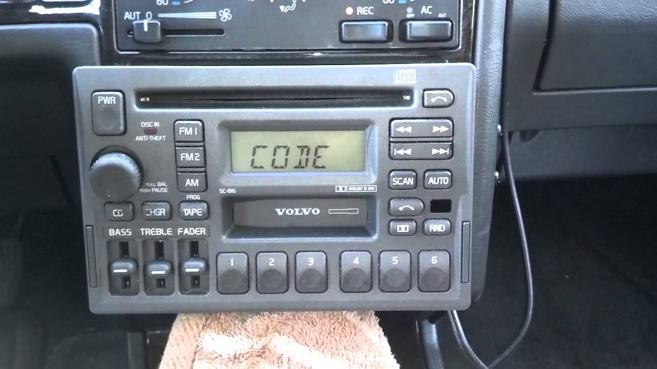 How to remove and install a Volvo SC series radio in a 850, 960, S90, S70, V70, S40 - Auto ...