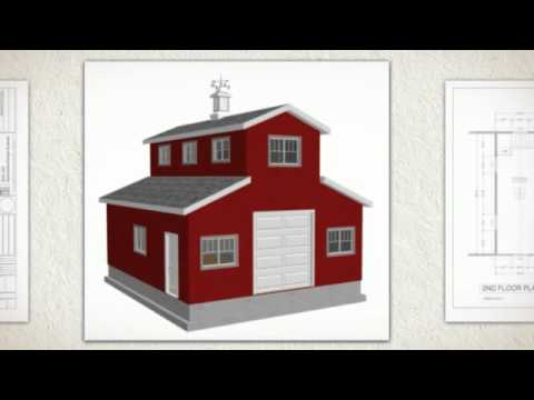 26 x 30 x 10 monitor barn plan youtube for Small monitor barn