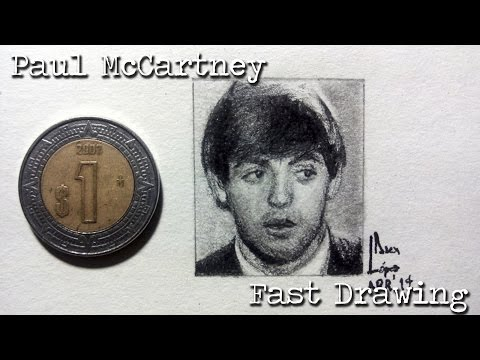 Fast Drawing: Paul McCartney, The Beatles - Miniature Portrait