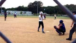12u thunder fast pitch softball madisynn is the catcher