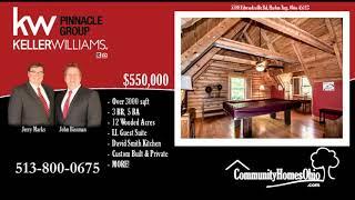 Keller Williams Agent Presents  5788 Edwardsville Rd, Harlan Twp, OH 45113  Log Cabin