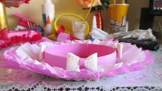 Como Fazer um Prato Decorado ou Baleiro Para Festas Infantis