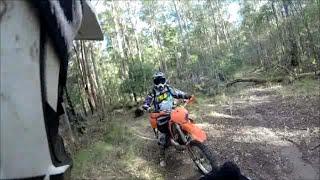 Tick Fence Track 2 Stroke Enduro Ride, KTM TM