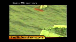 OFF CAPE COD MASS- Coast Guard crew airlifts ill crewman from tanker (02-02-10)