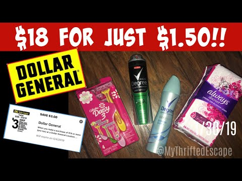 NEW Dollar General $3 off $15 Digtial and $1.50 OOP Scenario!