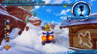 Crash Team Racing Nitro Fueled - Blizzard Bluff Shortcuts (Winter Time Off-Roading Trophy Guide)