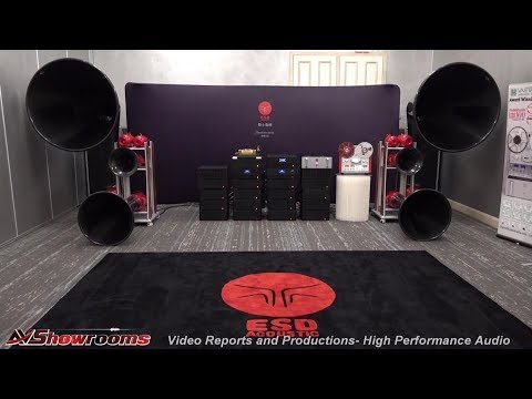ESD Acoustics Dragon Series Horn Loudspeaker System, United Home Audio Tape Deck, New York Audio Sho