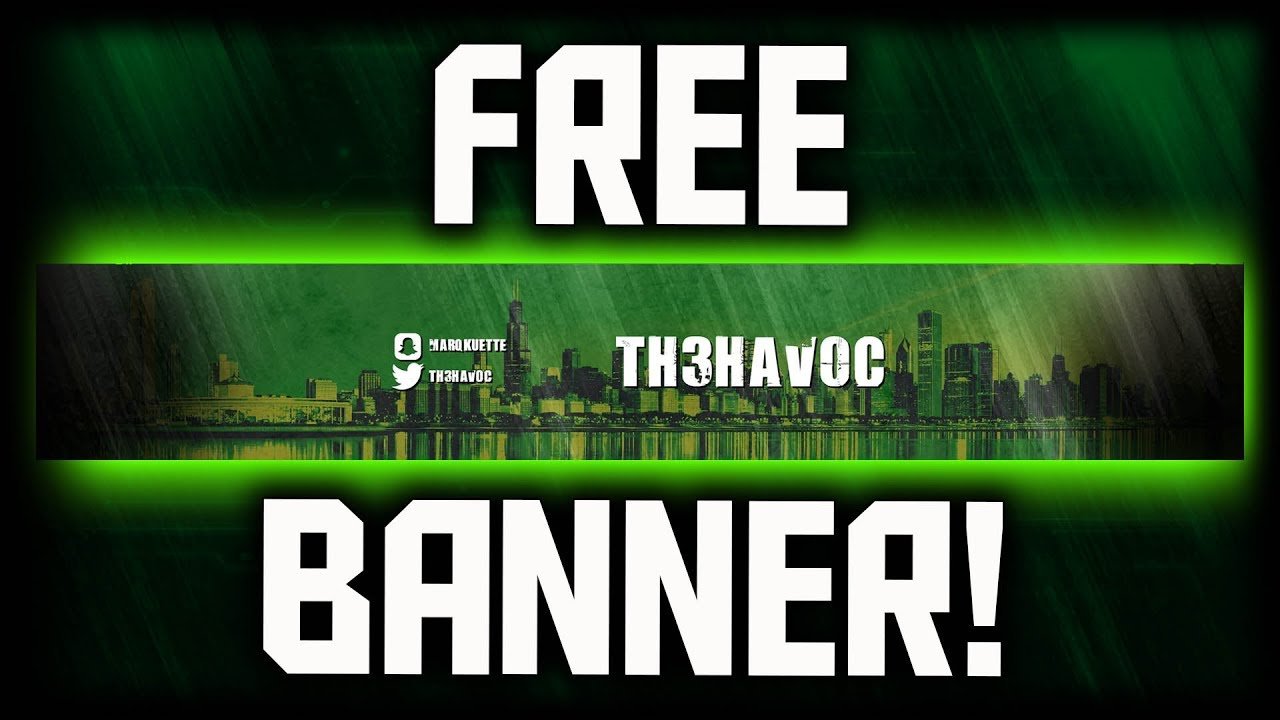 How to make a free youtube banner no photoshop how to make a youtube banner without photoshop - Youtube banner pictures ...