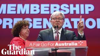 Kevin Rudd attacks 'Murdoch mafia' at Labor's national conference