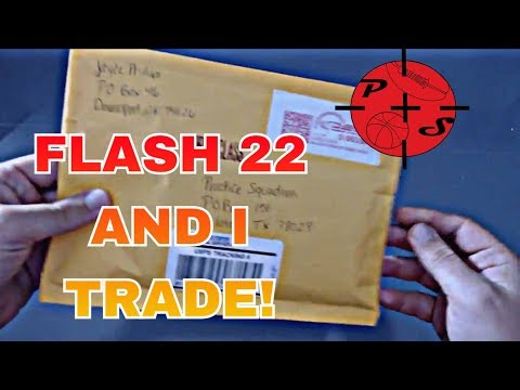 LOOK WHAT HE SENT!! Flash 22 AND I TRADE CARDS!!!