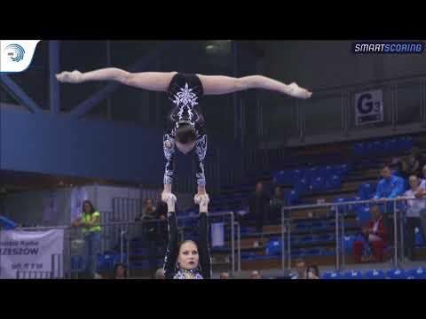 REPLAY: 2017 ACRO Europeans - Seniors finals WG & MG balance, MxP dynamic