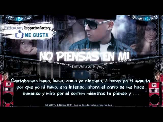 ►No piensas en mi◄con Letra★Cosculluela◄★►New Romantic Reggaeton 2012◄★► Videos De Viajes
