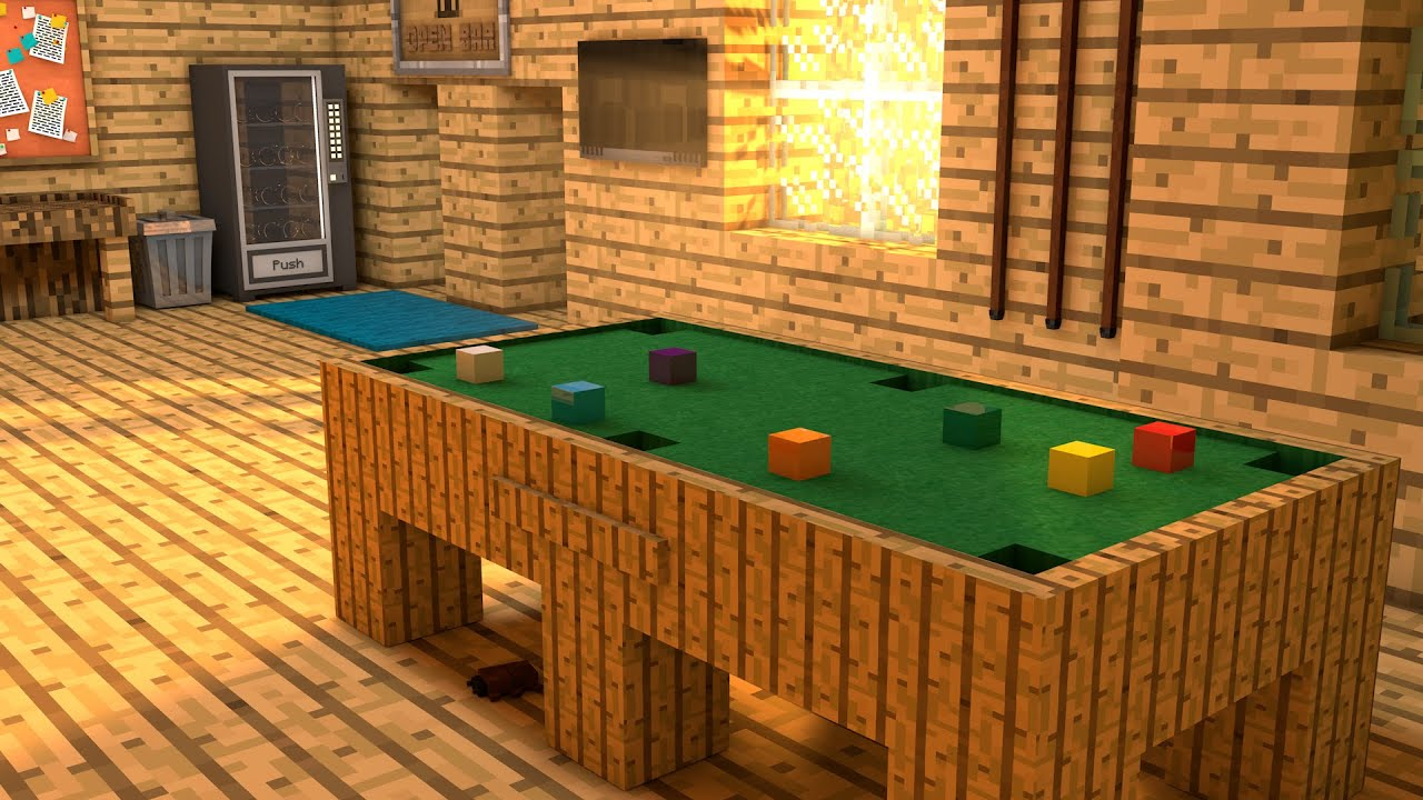 Mesa de Sinuca C4d Minecraft Rig (Snooker Table C4d ...