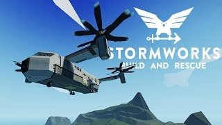 Saving Lives In A New Giant Helicopter - Stormworks Best Creations - Jelly & TR-400 Superheavy