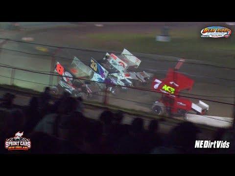 Highlights: Sprint Cars of New England at Bear Ridge Speedway 7-22-2017
