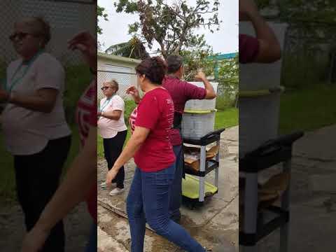 Puerto Rico helping the community in Carolina hurracan Maria
