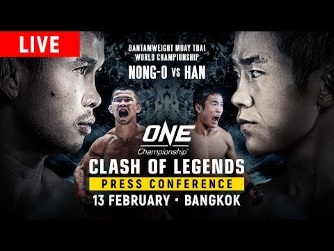 🔴 [LIVE] ONE Championship: CLASH OF LEGENDS Press Conference