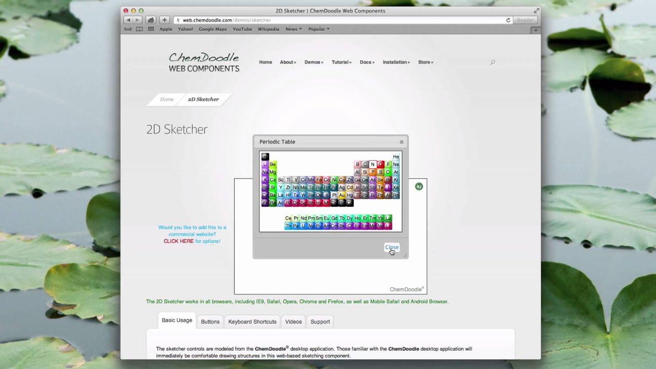 2D Sketcher | ChemDoodle Web Components