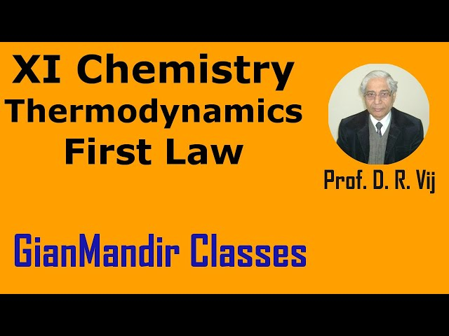 XI Chemistry - Thermodynamics - First Law of Thermodynamics by Ruchi Mam