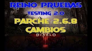 Diablo 3: Reino de Pruebas Parche 2.6.8b arreglos y ajustes