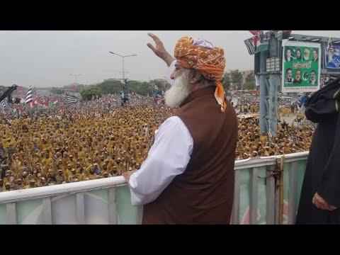 Maulana Fazl-ur-Rehman Ka Aazadi March Mai Khitaab!