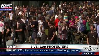 FNN: G20 Protests, President Trump Arriving in Germany and More