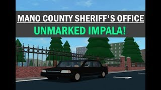 ROBLOX | Mano County Sheriff es Office | UNMARKIERTES IMPALA!