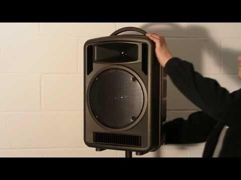 Portable 100w music & wireless PA system.